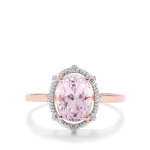 Kolum Kunzite & Diamond 9K Rose Gold Ring ATGW 2.63cts