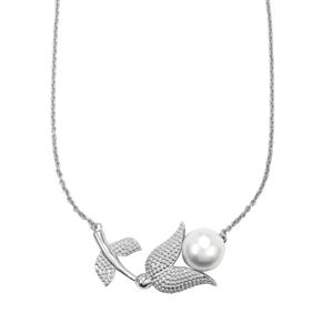 South Sea Cultured Pearl Necklace in Sterling Silver (14MM)