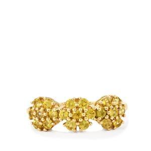 0.86ct Ambilobe Sphene 10K Gold Ring