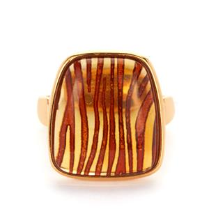 Baltic Cognac Amber Ring in Sterling Silver 3.50cts