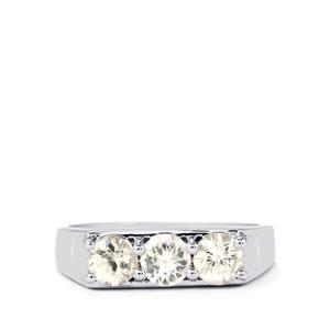 1.81ct Singida Tanzanian Zircon Sterling Silver Ring
