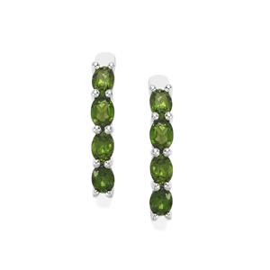 Chrome Diopside Earrings in Sterling Silver 1.44cts