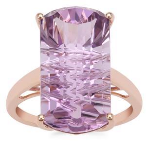 Lehrer Matrix Cut Rose De France Amethyst Ring in 9K Rose Gold 10.75cts