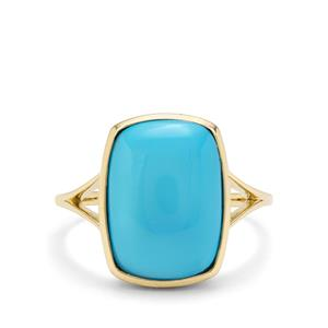 4.97ct Sleeping Beauty Turquoise 9K Gold Ring