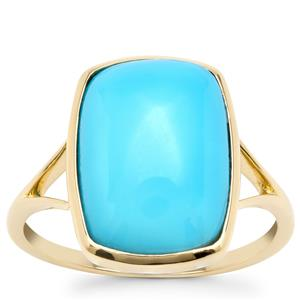 Sleeping Beauty Turquoise Ring in 9K Gold 4.97cts