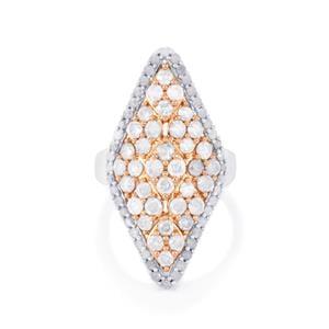 3ct Diamond Two Tone Midas Ring