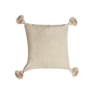 Gem Auras Luxury Handwoven Moroccan Tassel Cushion - 45 x 45cm