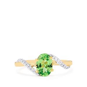 Ultraviolet Colour Change Garnet & Diamond 18K Gold Tomas Rae Ring MTGW 1.32cts