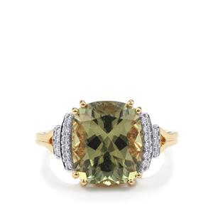 Csarite® Ring with Diamond in 18K Gold 6.40cts