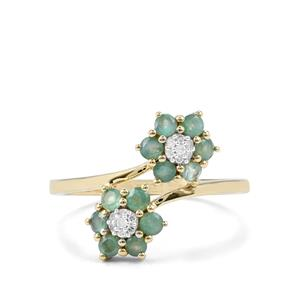 Alexandrite Ring with Diamond in 10K Gold 0.73ct