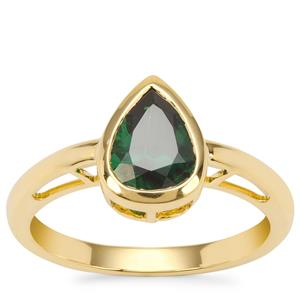 Tsavorite Garnet Ring in 18K Gold 1.42cts