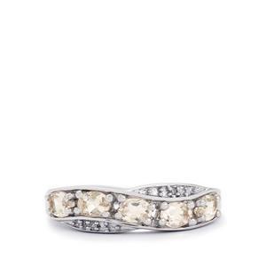 Zambezia Morganite & Diamond Sterling Silver Ring ATGW 0.74cts