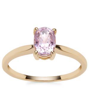 Kunzite Ring in 9K Gold 1.20cts