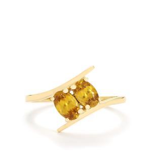 0.99ct Ambilobe Sphene 10K Gold Ring