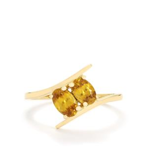 Ambilobe Sphene Ring in 9K Gold 0.99cts