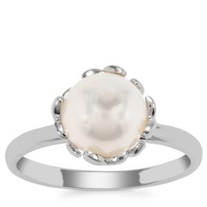 South Sea Cultured Pearl Ring in Sterling Silver (8mm)