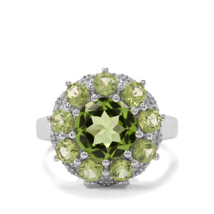 4.53ct Red Dragon Peridot Sterling Silver Ring