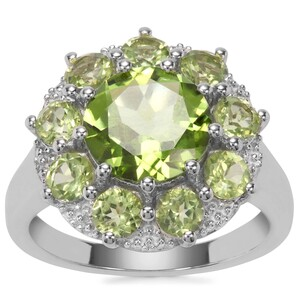 Red Dragon Peridot Ring in Sterling Silver 4.53cts