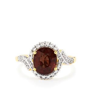 Colour Change Garnet & Diamond 18K Gold Tomas Rae Ring MTGW 3.53cts