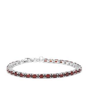 Zambian Garnet Bracelet in Sterling Silver 9.29cts