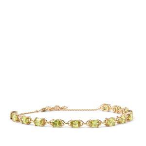 Ambilobe Sphene Bracelet in 10K Gold 6.65cts