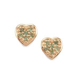 0.33ct Alexandrite 9K Gold Earrings