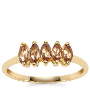 Tsivory Colour Change Garnet Ring in 9K Gold 0.83ct