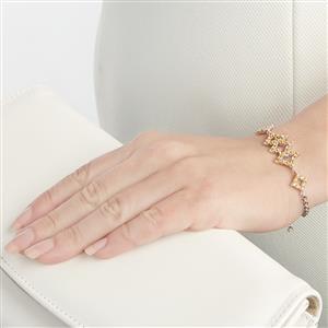 2.56ct Songea Orange Sapphire Sterling Silver Bracelet