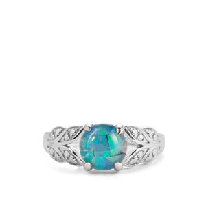 Mosaic Opal Sterling Silver Ring (7.50mm)