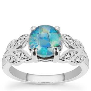 Mosaic Opal Ring in Sterling Silver (7.50mm)