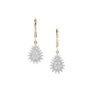 Canadian Diamond Earrings in 9K Gold 1cts