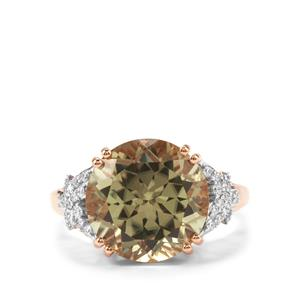 Csarite® Ring with Diamond in 18K Rose Gold 7.89cts