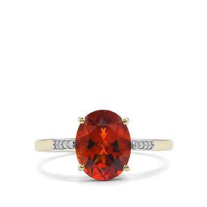 Madeira Citrine & Diamond 10K Gold Ring ATGW 2.08cts