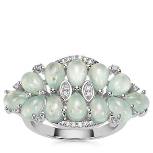 Aquaprase™ Ring with White Zircon in Sterling Silver 4.69cts