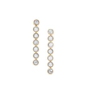 White Diamond Lorique Earrings in 18K Gold 1cts