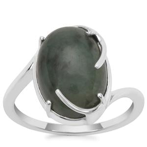 Type A Burmese Jade Ring in Sterling Silver 7.58cts
