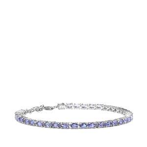 7.09ct Tanzanite Sterling Silver Bracelet