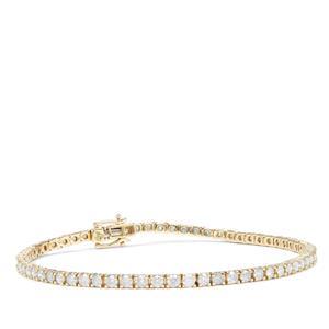 Diamond Bracelet in 9K Gold 3.95cts