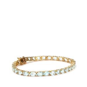 Sky Blue Topaz Bracelet in Gold Plated Sterling Silver 12cts