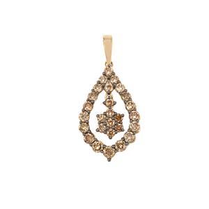 Argyle Diamond Pendant in 9K Gold 1cts