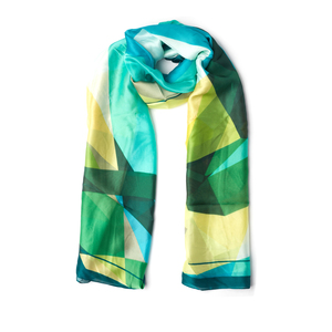Shades of Emerald Geometric Wrap