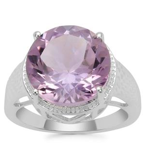 Rose De France Amethyst Ring in Sterling Silver 8cts
