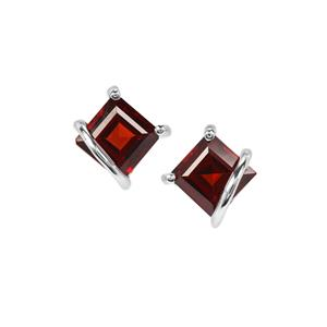Rajasthan Garnet Earrings in Sterling Silver 1.61cts
