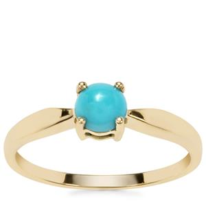 Sleeping Beauty Turquoise Ring in 9K Gold 0.52ct