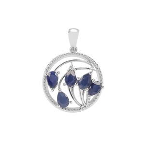 Orissa Sapphire Pendant in Sterling Silver 3.23cts