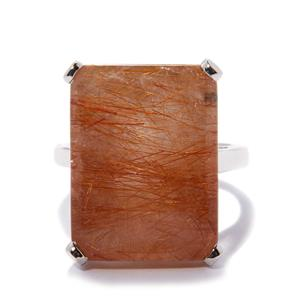Rutile Quartz Ring in Sterling Silver 21.37cts