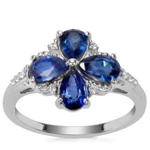 Nilamani Ring with White Zircon in Sterling Silver 2.11cts