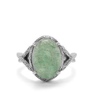 6ct Kiwi Quartz Sterling Silver Ring