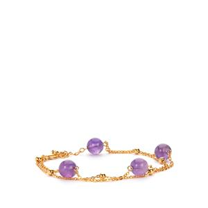 Amethyst Bracelet in Gold Plated Sterling Silver 12cts (F)