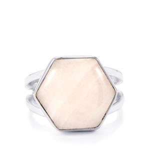 Pink Aragonite Ring in Sterling Silver 10cts